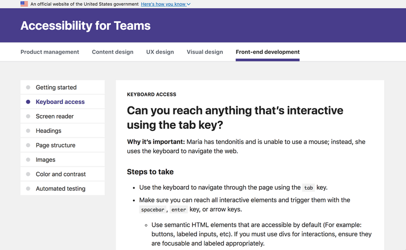 Can you reach anything that's interactive using the tab key