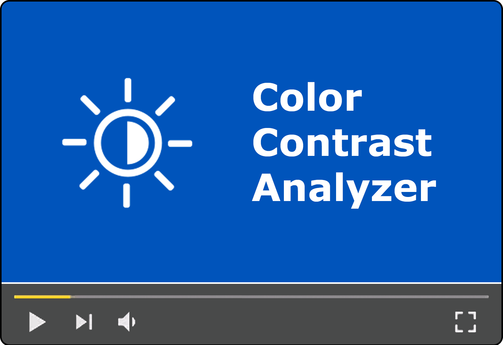 Module 14: Color Contrast Analyzer