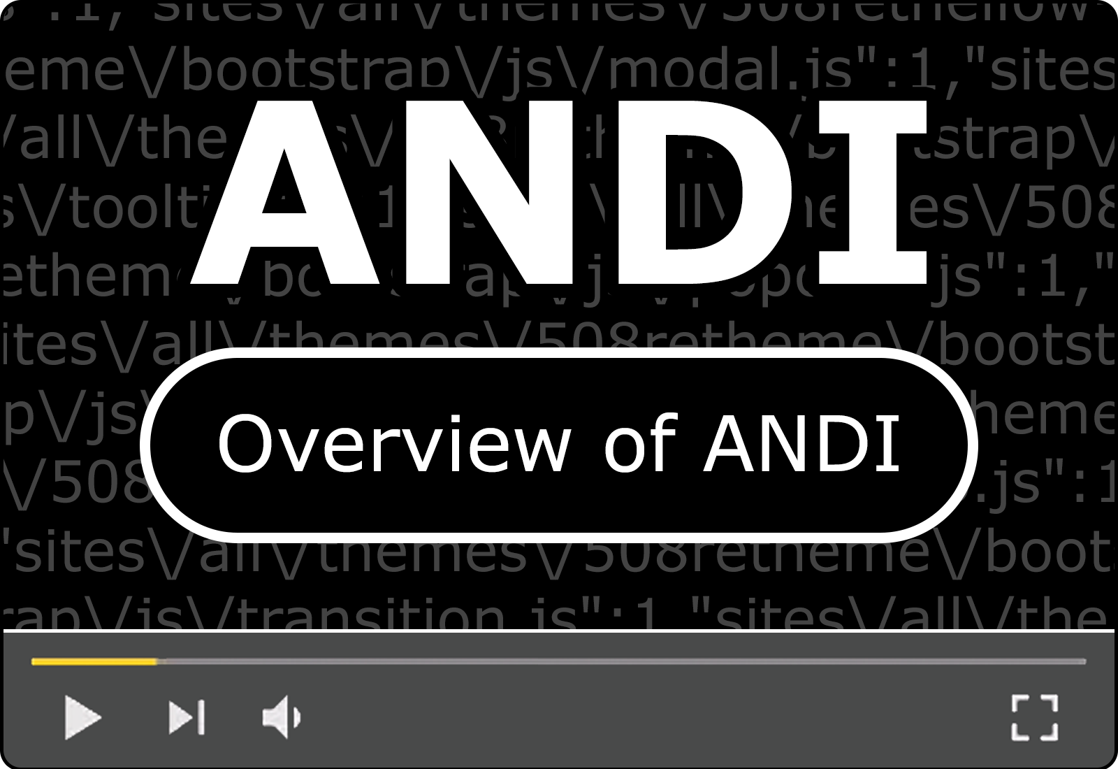 Accessible Name & Description Inspector (ANDI) Tool Overview