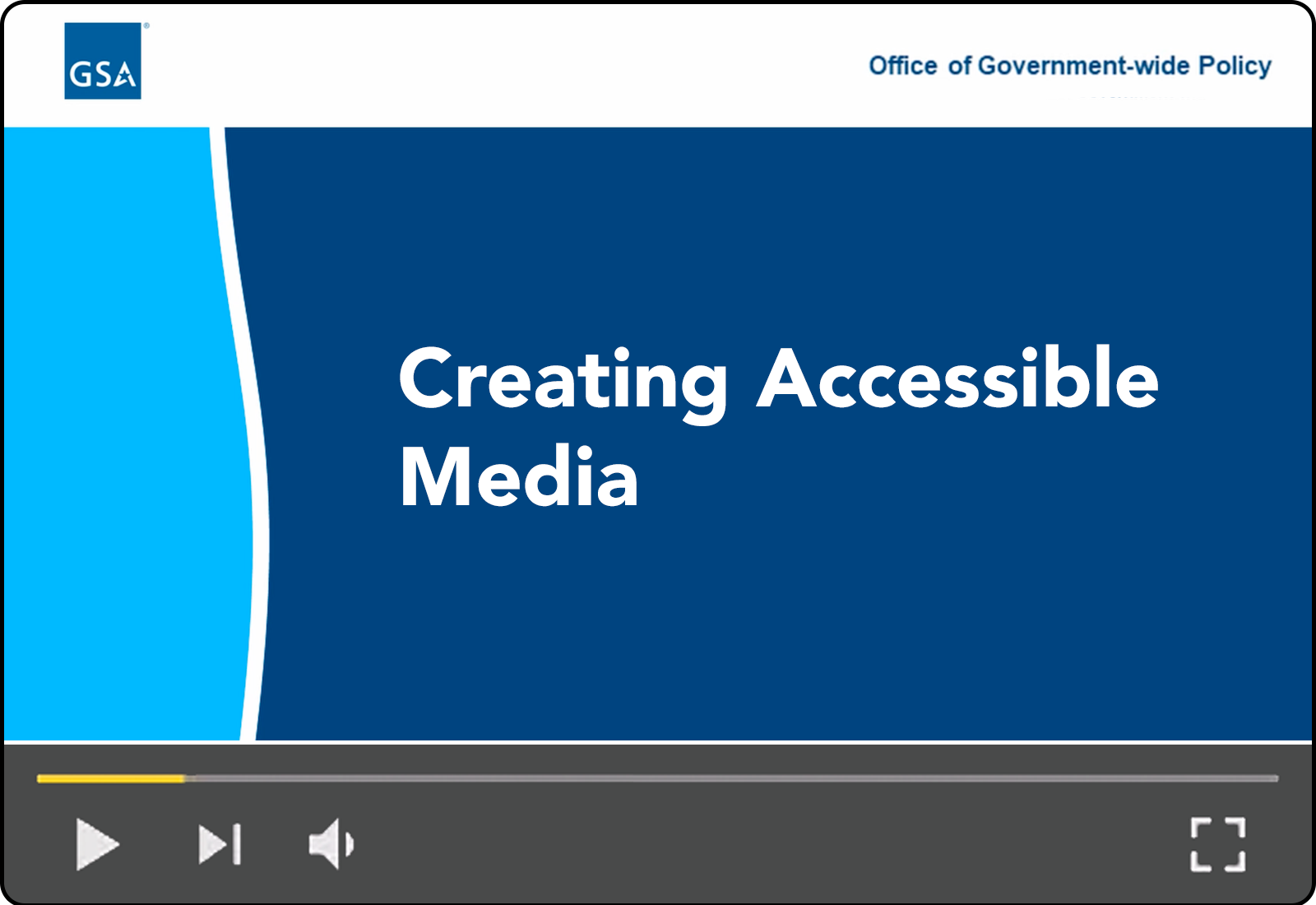 Creating Accessible Media