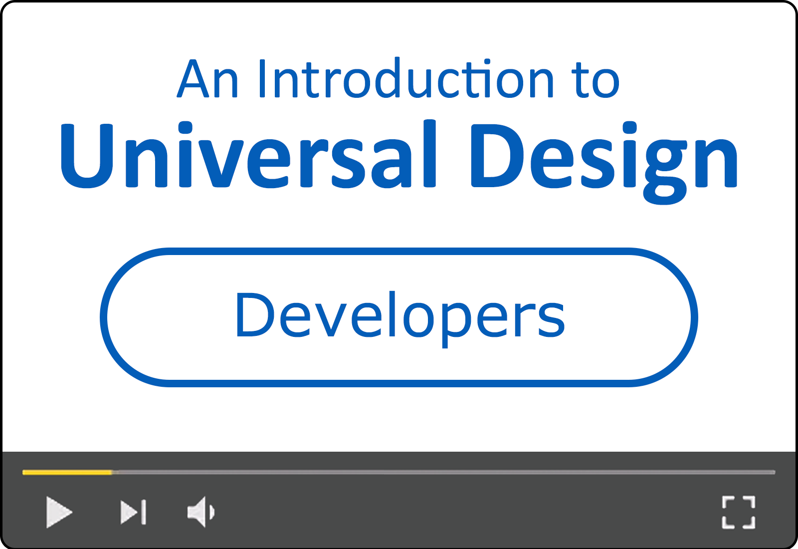 An Introduction to Universal Design for Developers